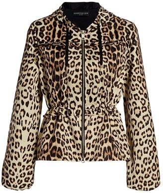 Generation Love Barron Leopard Windbreaker Jacket