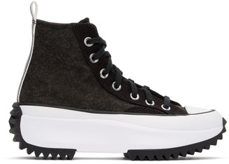 Converse Black Run Star Hike High-Top Sneakers