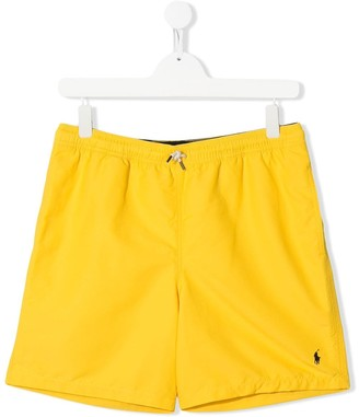 Ralph Lauren Kids TEEN logo-embroidered swim trunks