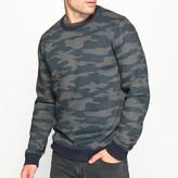 La Redoute Collections Crew Neck Camouflage Print Cotton Mix Sweatshirt