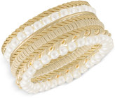 INC International Concepts Robert Rose for Gold-Tone 8-Pc. Set Bangle Bracelets, Only at Macy's
