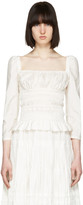 Brock Collection White Taylor Blouse
