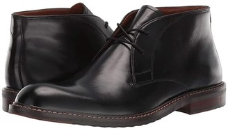 Steve Madden Bustur Chukka Boot (Black Leather) Men's Shoes