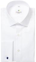Richard James Mayfair Textured Long Sleeve Shirt, White