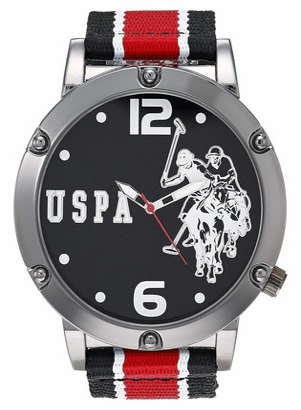 U.S. Polo Assn. Men's Quartz Watch with Nylon Strap Multicolor 16 (Model: USC57022AZ)