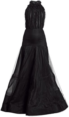 Jason Wu Collection Flocked Point D'Esprit Lace Gown