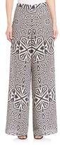 Alice + Olivia Elinor Printed Wide-Leg Pants