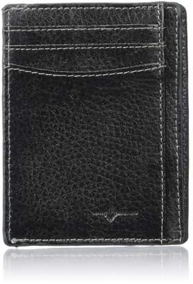 Buxton Men's Floater RFID Blocking Front Pocket Get-away Slim Minamalist Wallet