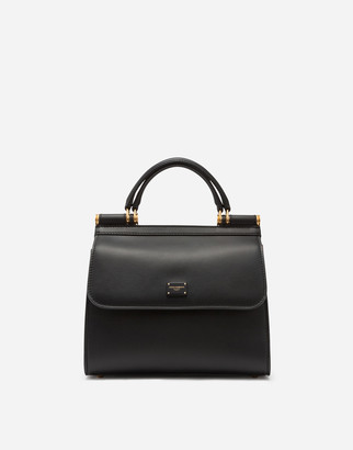 Dolce & Gabbana Medium Sicily 58 Bag In Calfskin And Cashmere Split-Grain Leather