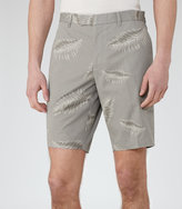 Reiss Reiss Jamaica - Palm Print Shorts In Blue