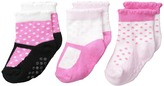 Jefferies Socks T-Strap Socks Non-Skid 3-Pack Girls Shoes