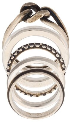 Werkstatt:Munchen twisted & embossed ring set