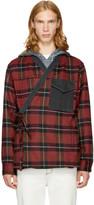3.1 Phillip Lim Red and Black Plaid Kimono Shirt Jacket
