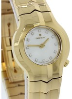 Tag Heuer Alter Ego WP1443 18K Yellow Gold Mother Of Pearl Dial wDiamond 25mm Womens Watch