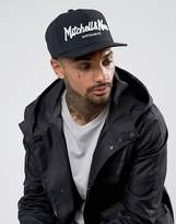 Mitchell & Ness Pinscript Snapback Cap In Black