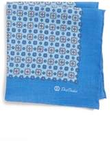 David Donahue Medallion Linen Pocket Square