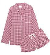 Three J NYC Phoebe Checked Cotton-Flannel Pajama Set