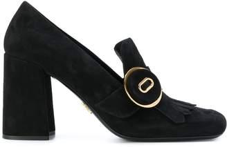Prada fringed block heeled loafers