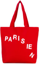 MAISON KITSUNÉ Parisian cut tote bag - unisex - Cotton/Polyester - One Size