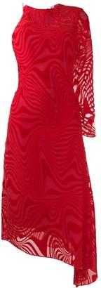 Marine Serre printed asymmetric dress
