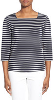 Nordstrom &Ester& Stripe Boat Neck Top