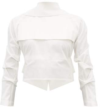 A.W.A.K.E. Mode Gathered Open-back Cotton Shirt - Womens - White