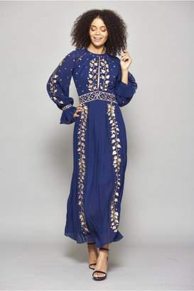 Frock and Frill Imelda Embroidered Long Sleeve Maxi Dress