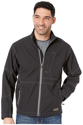 Ariat Rebar Stretch Canvas SoftShell Jacket (Black) Men's Coat