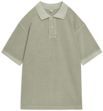 Arket Garment-Dyed Polo Shirt
