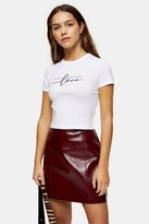 Topshop Womens Petite Do Things With Love T-Shirt - White