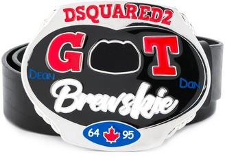 DSQUARED2 plate buckle belt