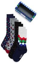 Happy Socks Men's Assorted Pattern Dress Socks Box Set - Pack of 4