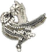 No.21 bird embellished brooch