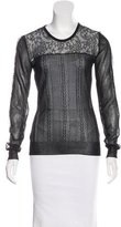 Jason Wu Silk Lace-Paneled Top