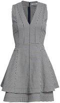 Derek Lam 10 Crosby Koren Gingham V-Neck Dress