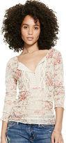 Denim & Supply Ralph Lauren Floral Crochet-Bib Henley