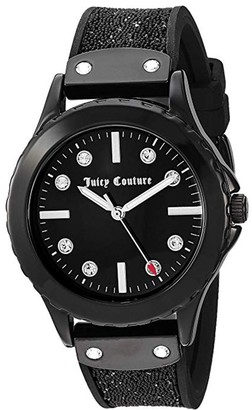 Juicy Couture Black Strap Watch w/ Glossy Dial