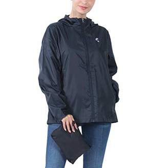 THE PLUS PROJECT Womens Waterproof Lightweight Rain Jacket Active Outdoor Hooded Raincoat 4XL