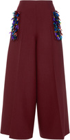 DELPOZO Embroidered Wide Legged Trousers