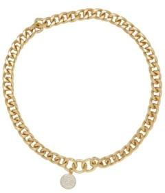 Ettika Crystal Disc Charm Chain Women's Necklace