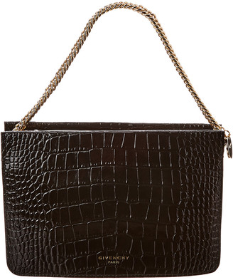 Givenchy Cross3 Croc-Embossed Leather Crossbody