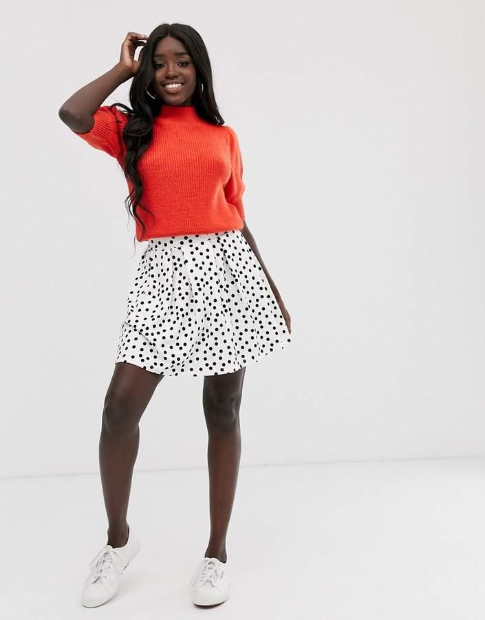 8e3498017 Box Pleat Mini Skirt - ShopStyle