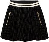 Sonia Rykiel Enfant Velour Skirt (Toddler/Kid) - Black-2T