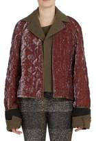 Haider Ackermann Quilted Layered Long Sleeve Jacket