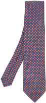 Isaia polka dot tie - men - Linen/Flax - One Size