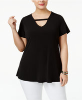 NY Collection Plus Size Strap-Detail Top