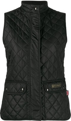 Belstaff Diamond-Quilted Fitted Gilet