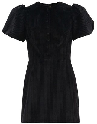 The Vampire's Wife The Heartbreaker Cotton Jumbo-cord Mini Dress - Black