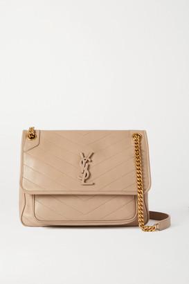 Saint Laurent Niki Medium Quilted Leather Shoulder Bag - Beige