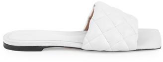 Bottega Veneta Padded Leather Flat Sandals